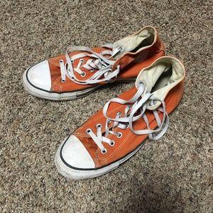 Converse Orange SIze 10 Mens Shoes